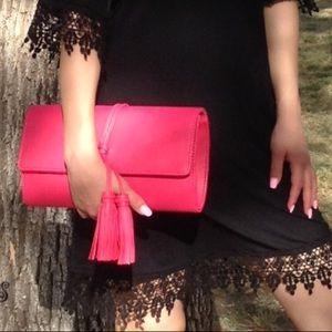 Tassel pink handbag/crossbody